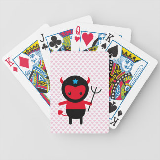 Poco diablo de Ninja del kawaii Baraja Cartas De Poker