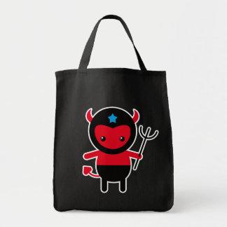Poco diablo de Ninja del kawaii Bolsas De Mano