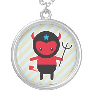 Poco diablo de Ninja del kawaii Colgante Redondo