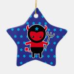 Poco diablo de Ninja del kawaii Ornamentos Para Reyes Magos