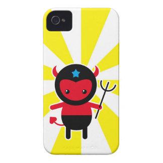 Poco diablo de Ninja del kawaii Case-Mate iPhone 4 Fundas