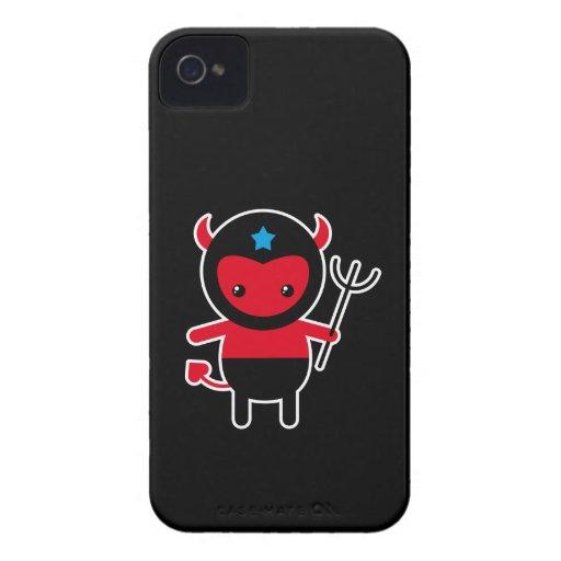 Poco diablo de Ninja del kawaii Case-Mate iPhone 4 Cobertura