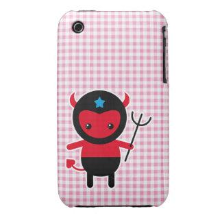 Poco diablo de Ninja del kawaii iPhone 3 Case-Mate Protectores