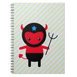 Poco diablo de Ninja del kawaii Libro De Apuntes