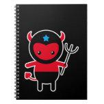 Poco diablo de Ninja del kawaii Libros De Apuntes