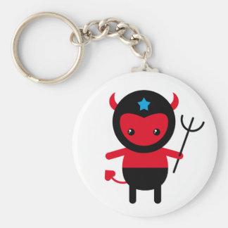 Poco diablo de Ninja del kawaii Llavero Personalizado