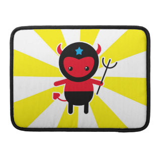 Poco diablo de Ninja del kawaii Fundas Para Macbooks