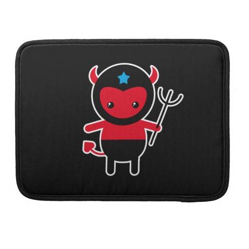 Poco diablo de Ninja del kawaii Funda Para Macbook Pro