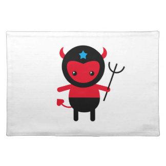 Poco diablo de Ninja del kawaii Manteles Individuales