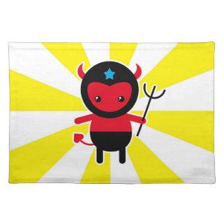 Poco diablo de Ninja del kawaii Manteles