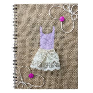 Poco diario púrpura del tutú libros de apuntes con espiral
