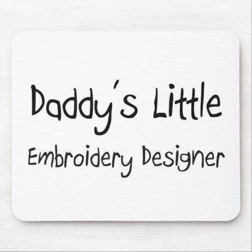 Poco diseñador del bordado del papá tapete de ratón