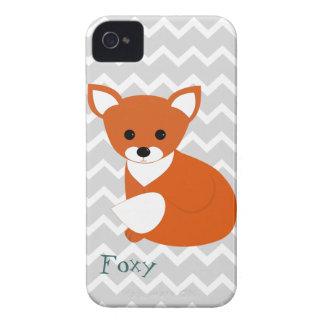 Poco diseño del Fox rojo Case-Mate iPhone 4 Protectores