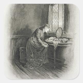Poco Dorrit, de 'Charles Dickens: Un abo del Pegatina Cuadradas Personalizada