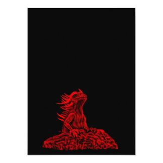 """Poco dragón rojo invitación 5.5"""" x 7.5"""""""