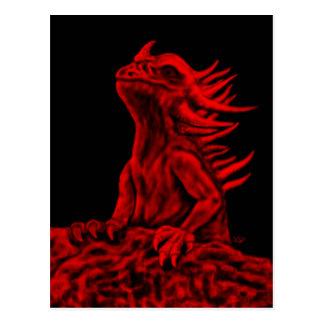 Poco dragón rojo postales