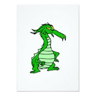 poco dragón verde invitacion personal