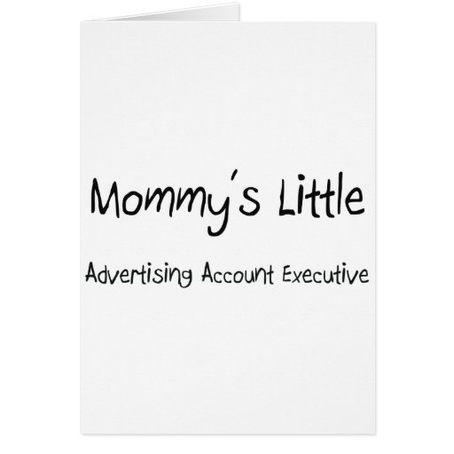 Poco ejecutivo de cuenta de la publicidad de la ma tarjeta