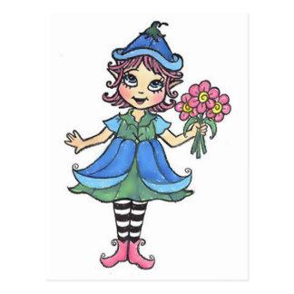 Poco Elfgirl Tarjeta Postal