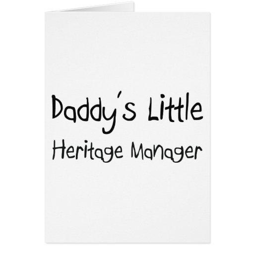 Poco encargado de la herencia del papá tarjetas