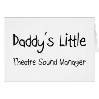 Poco encargado del sonido del teatro del papá tarjeton