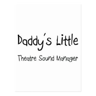 Poco encargado del sonido del teatro del papá postal