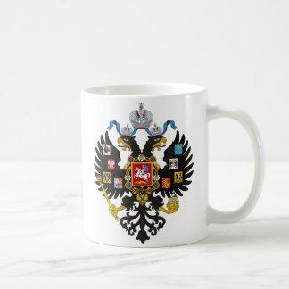 Poco escudo de armas del imperio ruso 1883 taza