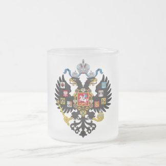 Poco escudo de armas del imperio ruso 1883 taza de cristal