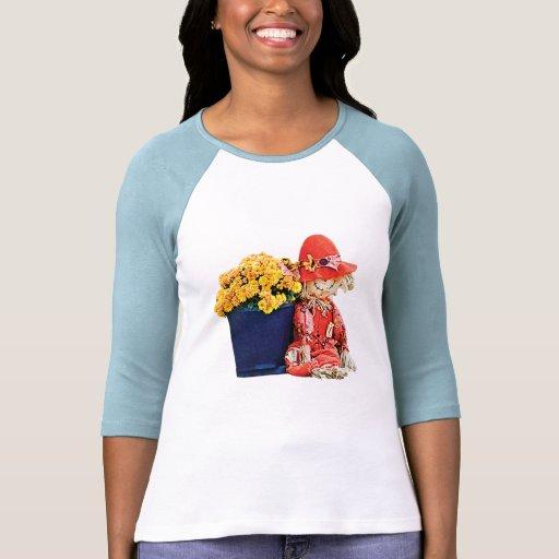 Poco espantapájaros y señoras de las momias camisetas