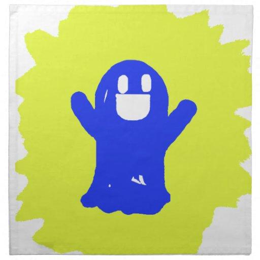 Poco fantasma azul servilletas de papel