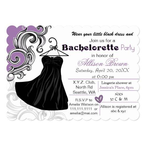 Poco fiesta negro del bachelorette del vestido anuncio