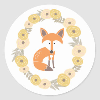 Poco Fox Etiqueta Redonda