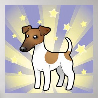 Poco fox terrier liso de la estrella póster