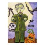 Poco Frankenstein Halloween de encargo Invitatatio Comunicado Personal