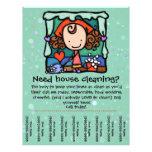 Poco Girlie promueve el housecleaning del negocio  Tarjeta Publicitaria