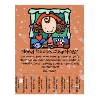 Poco Girlie promueve su negocio housecleaning Flyer A Todo Color