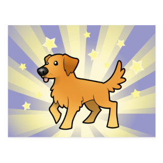 Poco golden retriever de la estrella postal