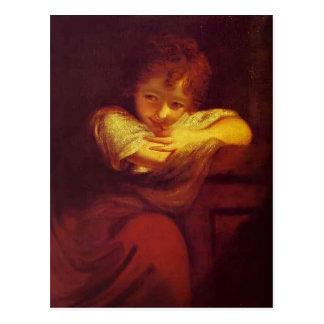 Poco granuja (Robinetta) por Joshua Reynolds Tarjetas Postales