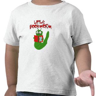 Poco gusano de libro camisetas