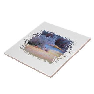 Poco hielo 1 de la charca azulejo