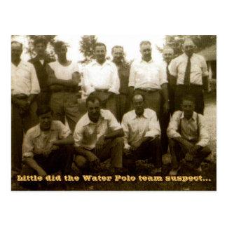 Poco hizo al sospechoso del equipo del water polo… tarjeta postal