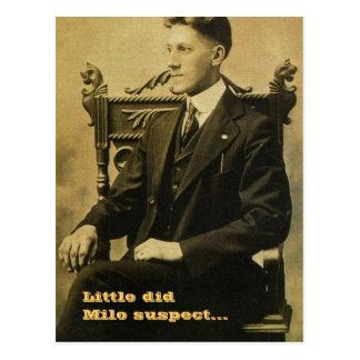 Poco hizo al sospechoso del Milo… Postales