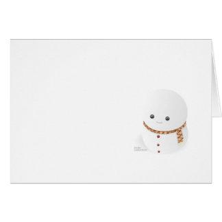 Poco hombre de la nieve con Felices Navidad Tarjeta De Felicitación