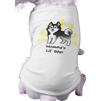 Poco husky siberiano de la estrella Malamute de Al Camiseta De Perro