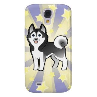 Poco husky siberiano de la estrella/Malamute de Samsung Galaxy S4 Cover