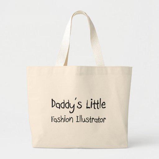 Poco ilustrador de la moda del papá bolsas lienzo