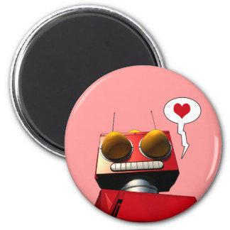 Poco imán rojo del amor del robot