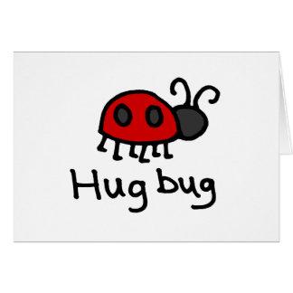 Poco insecto del abrazo tarjeta de felicitación