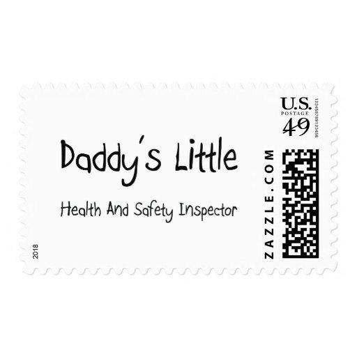 Poco inspector de la salud y de la seguridad del timbres postales