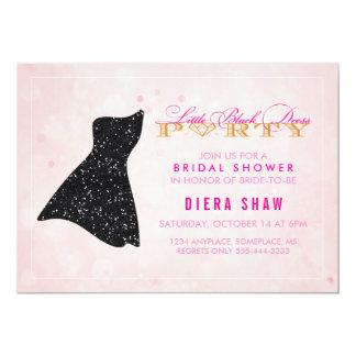 Poco invitación negra de la ducha del vestido